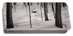 Winter Light In The Forest Portable Battery Charger