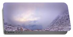 Winter Morning Light Tuckerman Ravine Portable Battery Charger