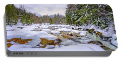 Winter On The Swift River. Portable Battery Charger