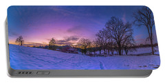 Winter Panorama Portable Battery Charger