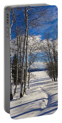 Portable Battery Charger featuring the photograph Winter Peace by Tom Gresham