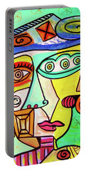 Winter Sage Cubist  Portable Battery Charger
