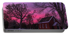 Portable Battery Charger featuring the photograph Winter Sunrise by Lori Coleman