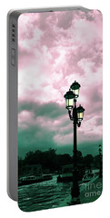 Winter Venice Lantern On The Embankment Portable Battery Charger