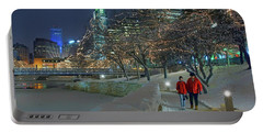 Winter Walk - Gene Leahy Mall - Omaha Portable Battery Charger
