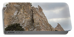 Winter White At Garden Of The Gods, Colorado Portable Battery Charger