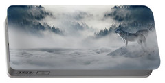 Wolfs In The Snow Portable Battery Charger