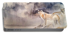 Wolves On Guard Portable Battery Charger