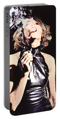 Woman Smoking A Cigarette Portable Battery Charger