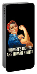 Portable Battery Charger featuring the digital art Womens Rights Are Human Rights Tshirt by Flippin Sweet Gear