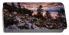 Wondrous Winter Sunset At Logan Shoals Portable Battery Charger