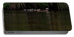 Wood Duck And Ducklings Portable Battery Charger
