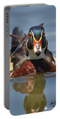 Wood Duck Face First Portable Battery Charger