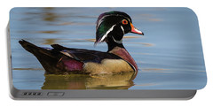 Wood Duck In Dallas Portable Battery Charger