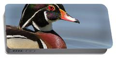 Wood Duck Portrait Portable Battery Charger