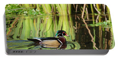 Wood Duck Reflection 1 Portable Battery Charger