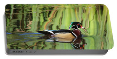 Wood Duck Reflection 2 Portable Battery Charger
