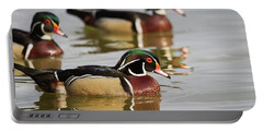Wood Duck Threesome Portable Battery Charger