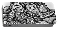 Wood Turtle Portable Battery Charger