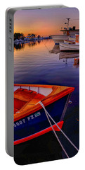 Portable Battery Charger featuring the photograph Wooden Boats by Tom Gresham