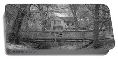 Wooden Bridge Over Stream - Waterloo Village Portable Battery Charger