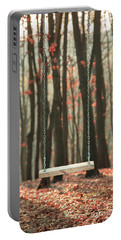 Wooden Swing In Autumn Forest Portable Battery Charger