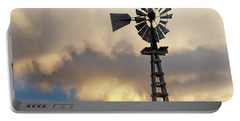 Wooden Windmill 01 Portable Battery Charger