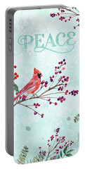 Woodland Holiday Peace Art Portable Battery Charger