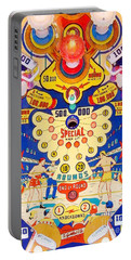 Portable Battery Charger featuring the photograph World Champ Pinball Machine Penny Arcade Nostalgia 20181225 V2 by Wingsdomain Art and Photography