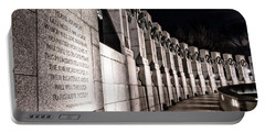 Portable Battery Charger featuring the photograph World War II Memorial by Travis Rogers