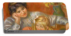 Writing Lesson Gabrielle And Claude, 1905 Portable Battery Charger