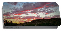Portable Battery Charger featuring the photograph Y Cactus Sunset  11 by Judy Kennedy