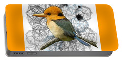 Y Is For Yellow Billed Kingfisher Portable Battery Charger