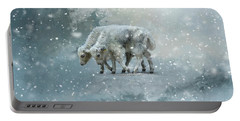 Yaks Calves In A Snowstorm Portable Battery Charger