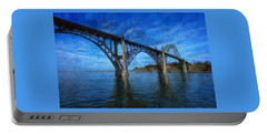 Yaquina Bay Bridge From South Beach Portable Battery Charger