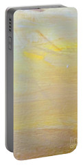 Portable Battery Charger featuring the painting Yellow #2 by Maria Langgle