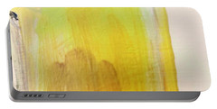 Portable Battery Charger featuring the painting Yellow #3 by Maria Langgle