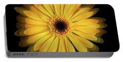 Portable Battery Charger featuring the photograph Yellow Gerbera Daisy Repetitions by Bill Swartwout Fine Art Photography