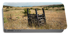 Yellow Grass And Fence Anchor Portable Battery Charger