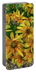 Yellow In Bloom Portable Battery Charger