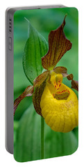 Yellow Lady's Slipper Portable Battery Charger