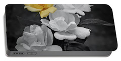Yellow Rose Cluster Partial Color Portable Battery Charger