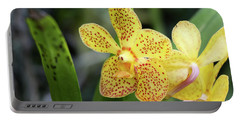 Yellow Spotted Orchids Portable Battery Charger