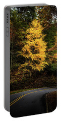 Yellow Tree In The Curve Portable Battery Charger