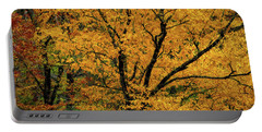 Yellow Tree Leaf Brilliance  Portable Battery Charger
