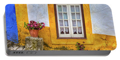 Yellow Window Of Obidos Portable Battery Charger