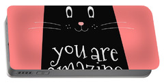 You Are Amazing - Baby Room Nursery Art Poster Print Portable Battery Charger