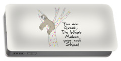 You Are Great Do What Makes Your Soul Shine - Baby Room Nursery Art Poster Print Portable Battery Charger