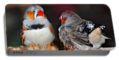 Zebra Finch .. Australia  Portable Battery Charger