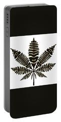 Zebra Pattern Marijuana Leaf 2 Portable Battery Charger